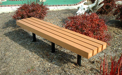 Personalized Garden Park Benches, Outdoor Trash Receptacles, Metal