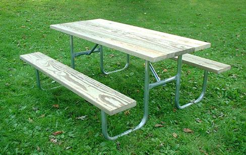 6 Commercial Picnic Table Galvanized Frame Kit | eBay