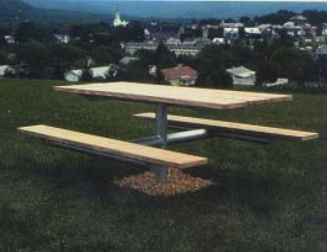 Park picnic tables and benches can be customized engraved as a memorial.